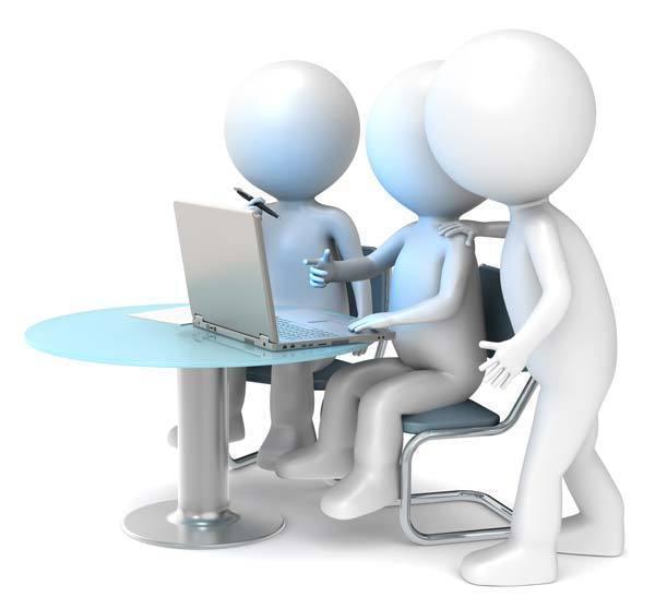 collaborative editing around a PC